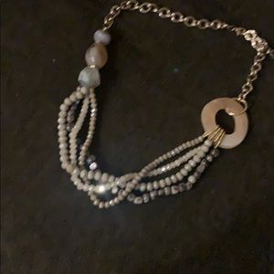 Beaded and chain necklace